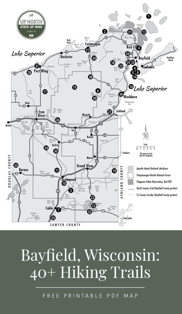 40+ Hiking Trails plus fun things to do in Bayfield, WI *Loving this list of ideas for the Apostle Islands National Lakeshore vacation we have planned