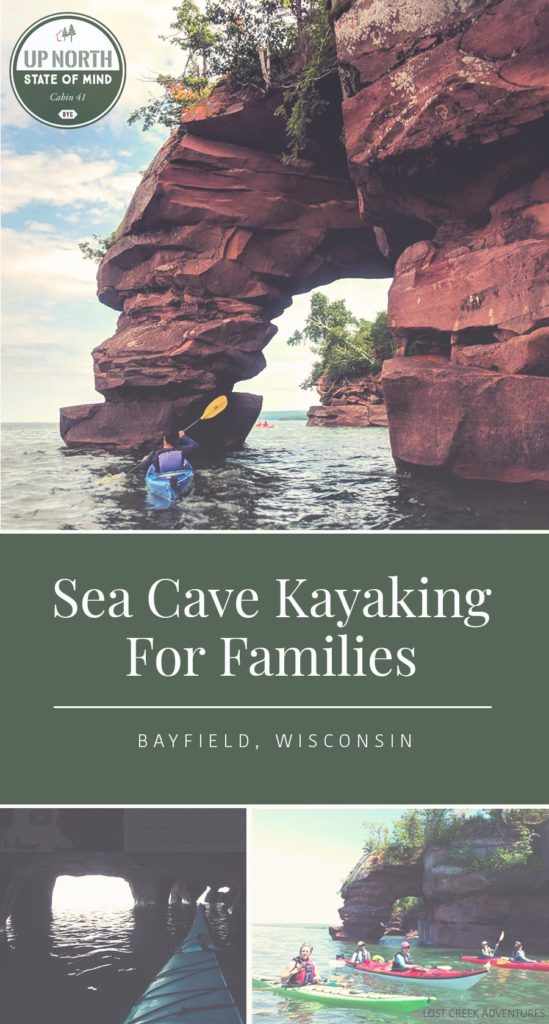 Awesome things to do in Bayfield, WI - Sea Cave Kayaking For Families *Love this entire list of ideas for the Apostle Islands National Shoreline